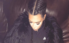 kim-kardashian-french-braid