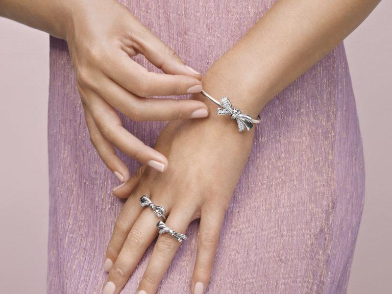 anello a fiocco pandora